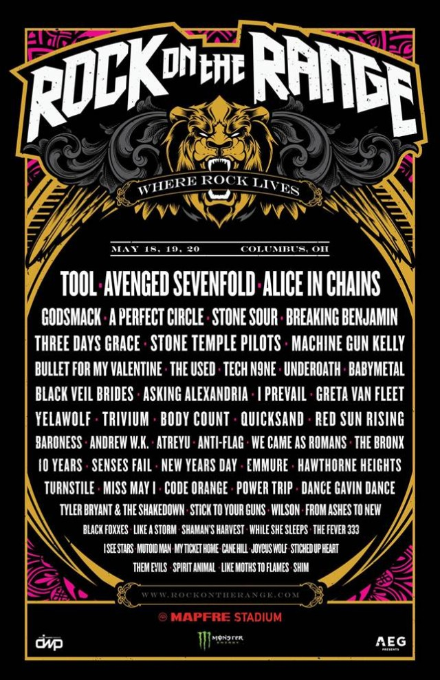 Rock On The Range 2019 Schedule More Maynard For Your Money: Both Tool And A Perfect Circle Are