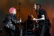 "Watch Laura Jane Grace & Cyndi Lauper Play A Punk ""The Goonies 'R' Good Enough"" In NYC"