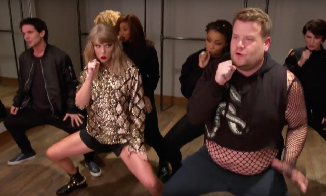 James Corden becomes Taylor Swift's backing dancer in sketch