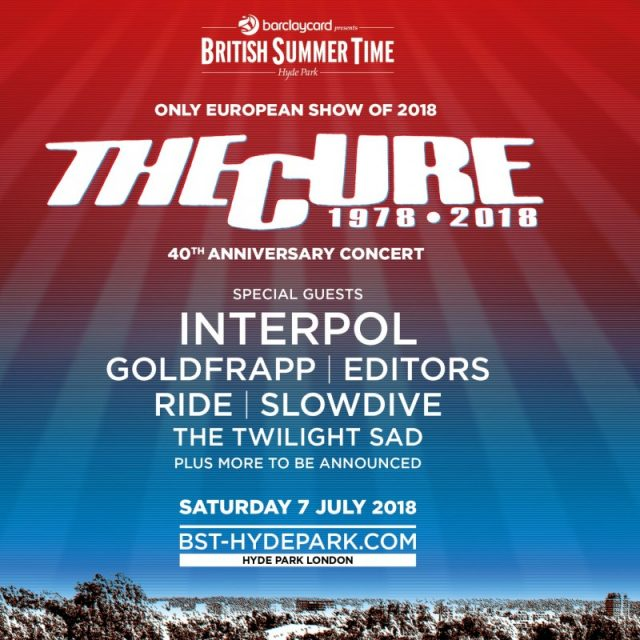 The Cure Announces 40 Year Anniversary Show Featuring Interpol, Slowdive And More