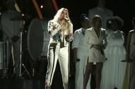 "Grammys 2018: Watch Kesha Perform ""Praying"" With Cyndi Lauper, Camila Cabello, Julia Michaels, Andra Day, & Bebe Rexha"