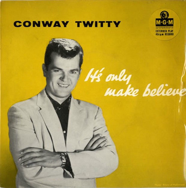Image result for it's only make believe conway twitty single images