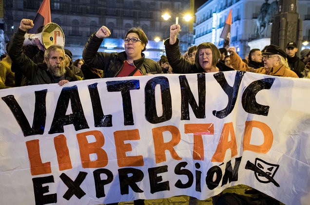 Valtonyc protest