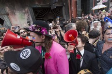 Arcade Fire Leads David Bowie Themed Second Line In New Orleans