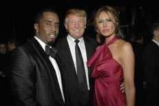 Puff Daddy, Donald Trump, Melania Trump