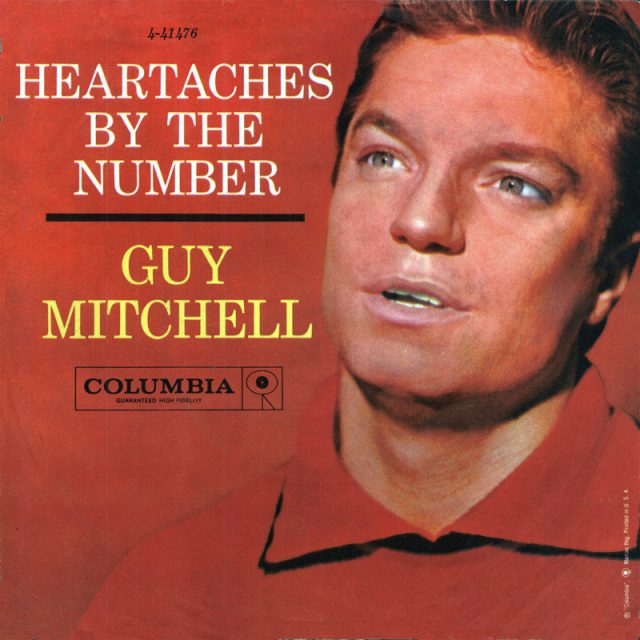 Image result for heartaches by the number guy mitchell single images