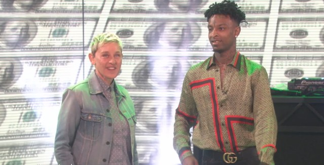 Behold The Absurd Spectacle Of 21 Savage On Ellen - Stereogum e2f5a7a1351a