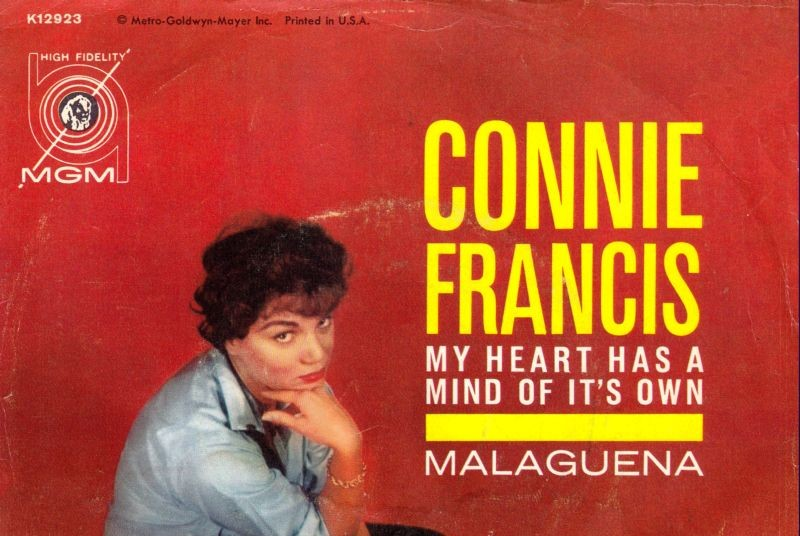 Image result for my heart has a mind of its own connie francis single images