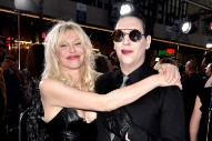 "Marilyn Manson Teases ""Tattooed In Reverse"" Video With Courtney Love"