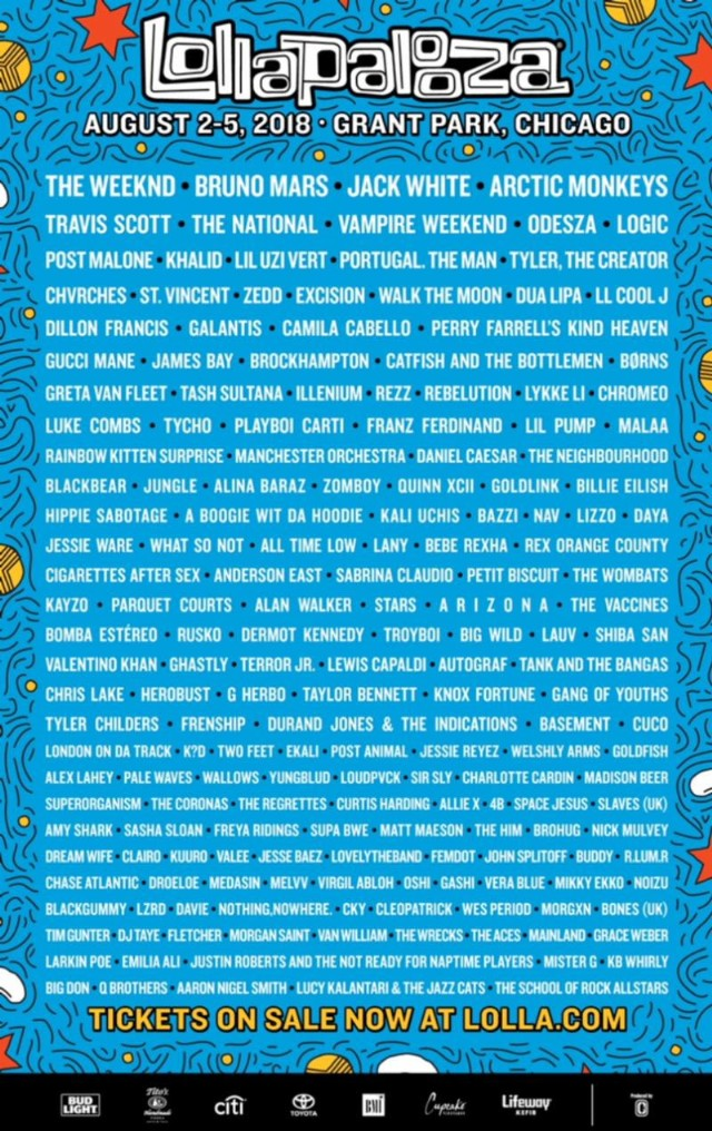 Image result for lollapalooza 2018