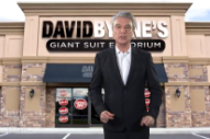Watch David Byrne's Giant Suit Emporium Commercial And Performance With Stephen Colbert