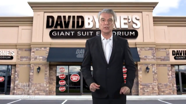 Come On Down To David Byrnes Giant Suit Emporium Were Burning