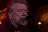 "Watch Robert Plant Talk Losing A Karaoke Duel, Play ""New World"" On Corden"