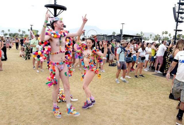 Coachella kids doing Coachella things