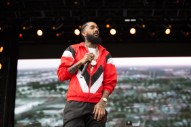 """Nipsey Hussle Performed """"FDT"""" In Washington In Front Of A Picture Of Kanye Wearing His MAGA Hat"""