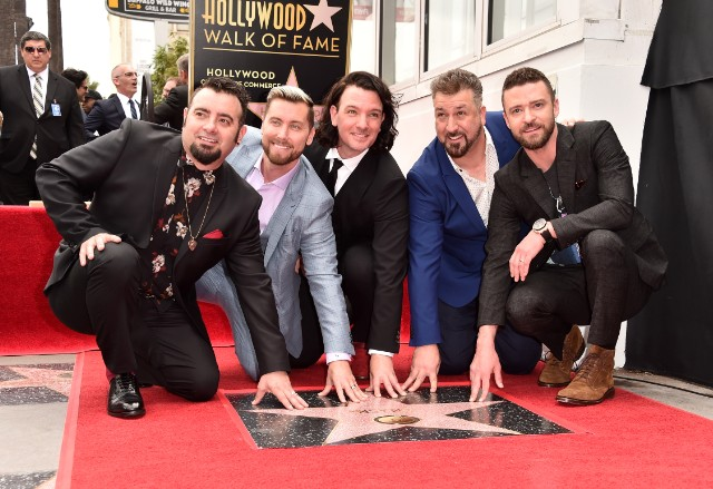 NSYNC Receive Their Star Of The Hollywood Walk Of Fame
