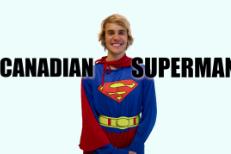 "Justin Bieber as ""Canadian Superman"""