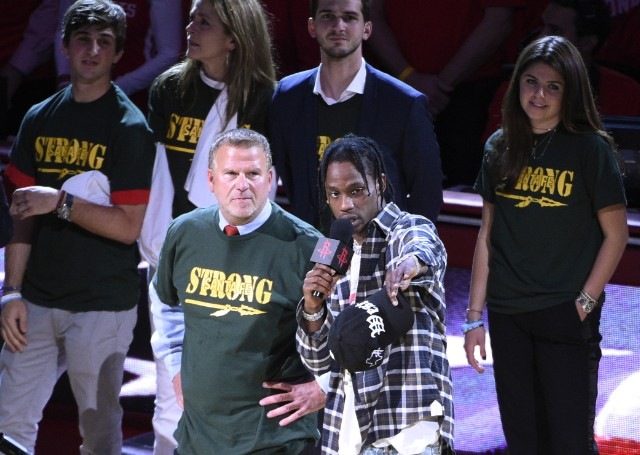 Travis Scott Honors Survivors Of Texas School Shooting At Houston Rockets Game