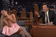 Ariana Grande Talks New Album <em>Sweetener</em> And Sings Goth-Rock Kendrick In <em>Fallon</em> Takeover