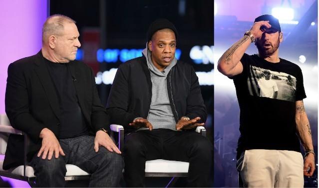 Harvey Weinstein, Jay-Z, and Eminem