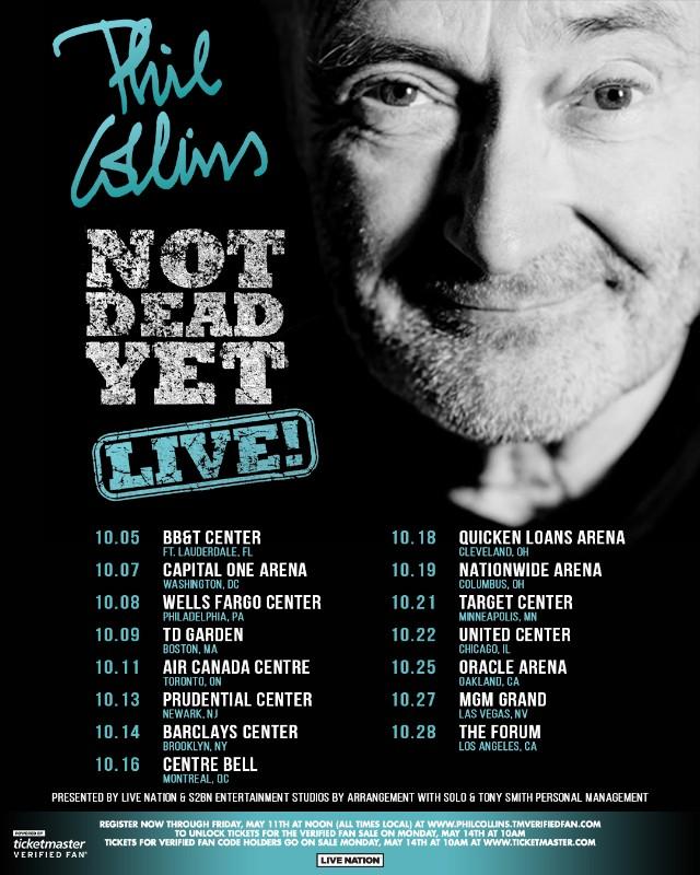 Phil Collins Tour 2020 Usa Phil Collins US Tour Dates Announced   Stereogum