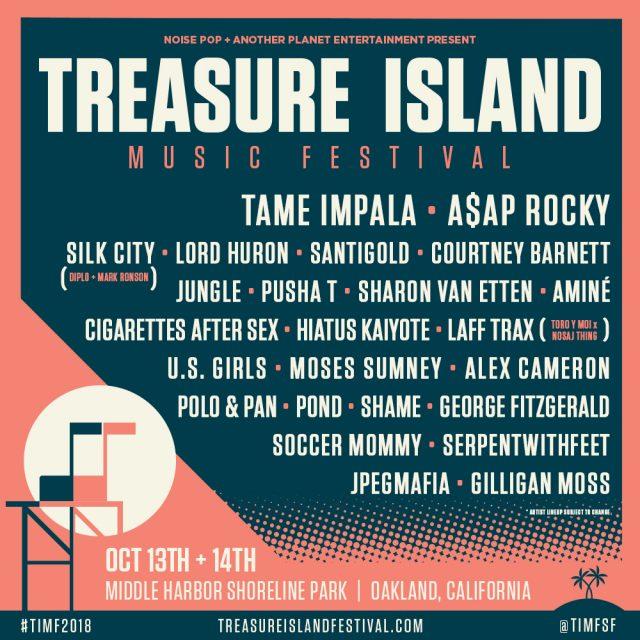Treasure Island 2018 Lineup