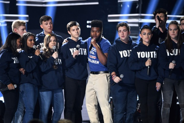 Khalid, Shawn Mendes Perform With Parkland Students At BBMAs