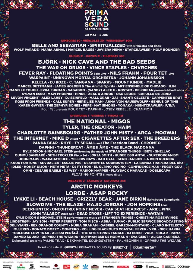 Primavera-2018-lineup