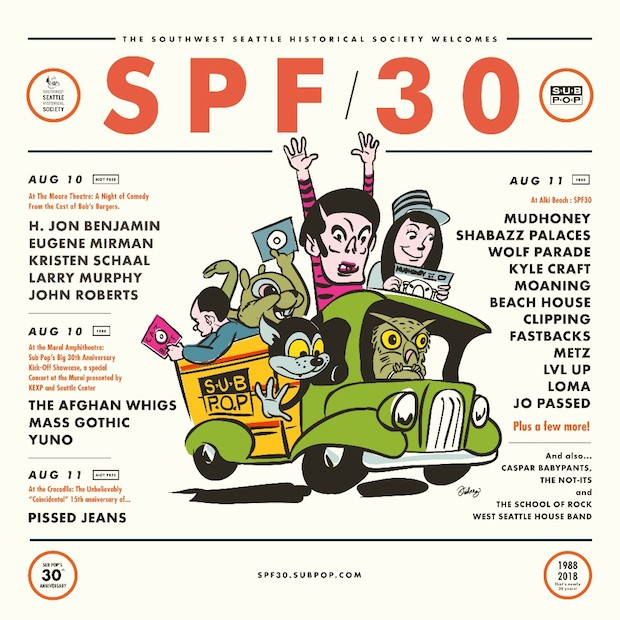 Sub Pop 30th Anniversary lineup