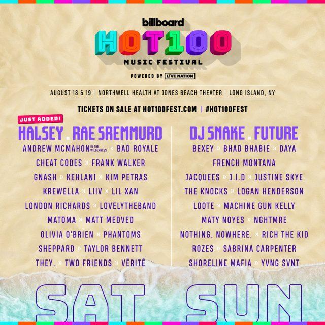 Billboard Hot 100 2018 Daily Lineups