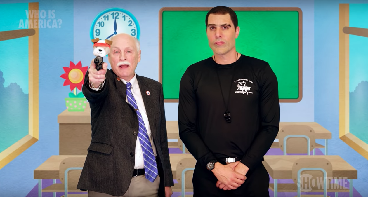 Sacha Baron Cohen Has Politicians Cite Cardi B, Blink-182, Rita Ora As Reasons To Arm Kids