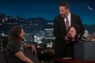 Watch Dave Grohl Give Jimmy Kimmel A Severed Dave Grohl Head