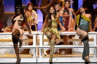 """Watch Ariana Grande's Last Supper-Themed """"God Is A Woman"""" Performance At The VMAs"""