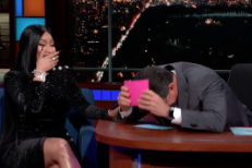 Watch Nicki Minaj Rap About Stephen Colbert On <em>The Late Show</em>