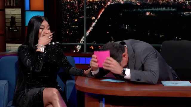 Flirty Nicki Minaj Makes Stephen Colbert Forget He's Married
