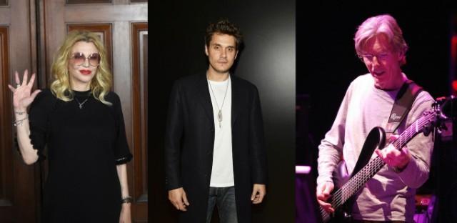Courtney Love, John Mayer, Phil Lesh
