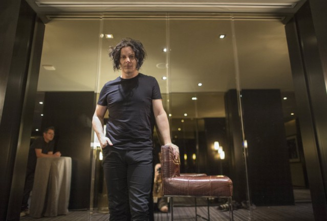 Fantastic Jack White Upholstered Ottomon Up For Auction Stereogum Pabps2019 Chair Design Images Pabps2019Com