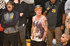 e0f987e13adc Anthony Kiedis Ejected From LeBron James  First Home Lakers Game