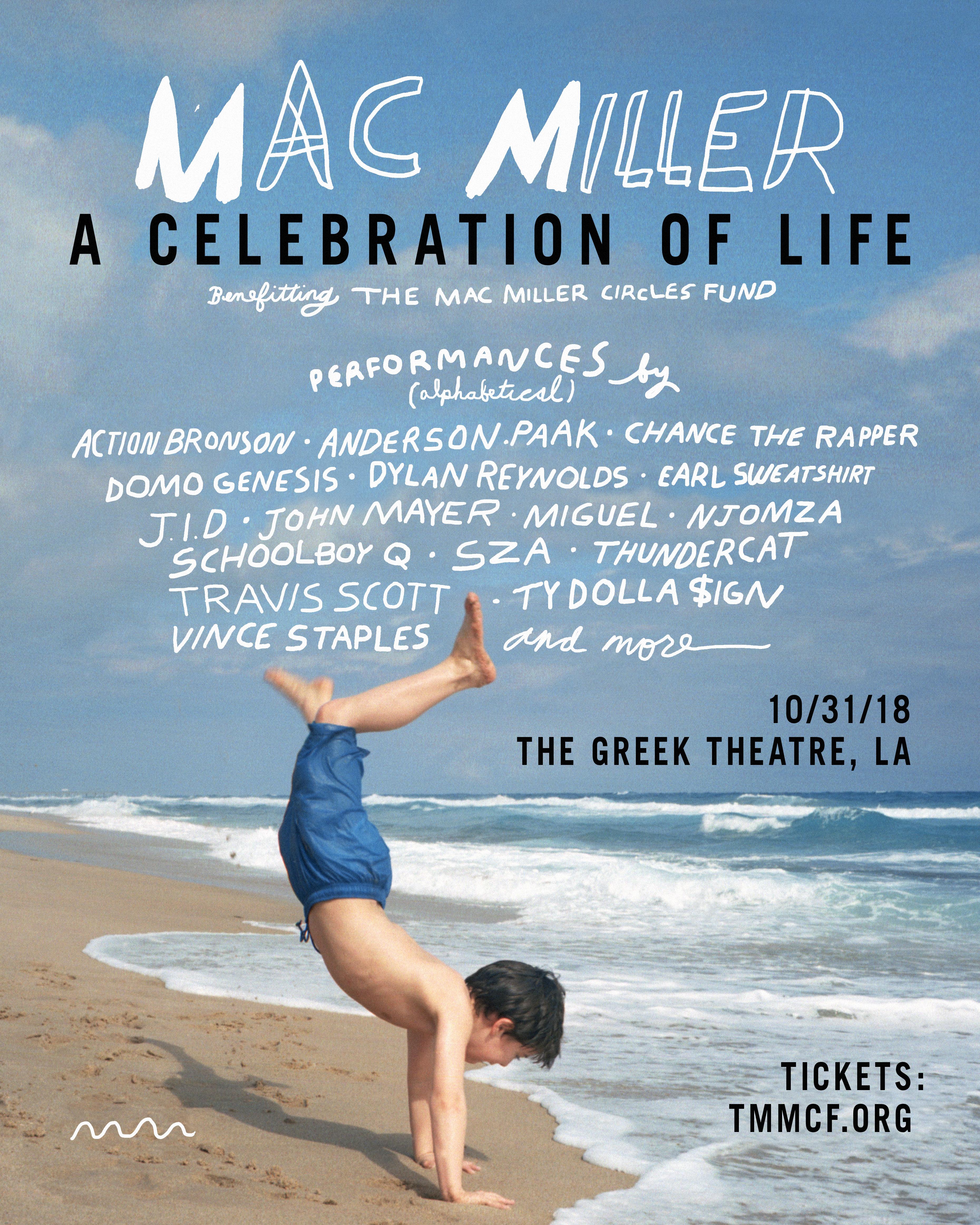 Livestream Mac Miller Tribute Concert With Travis Scott, SZA, Vince Staples & More