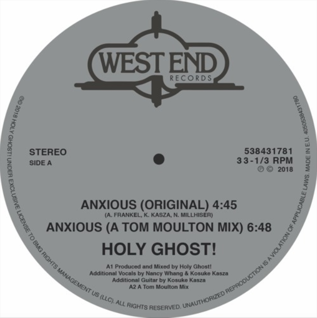 """Holy Ghost! - """"Anxious"""""""