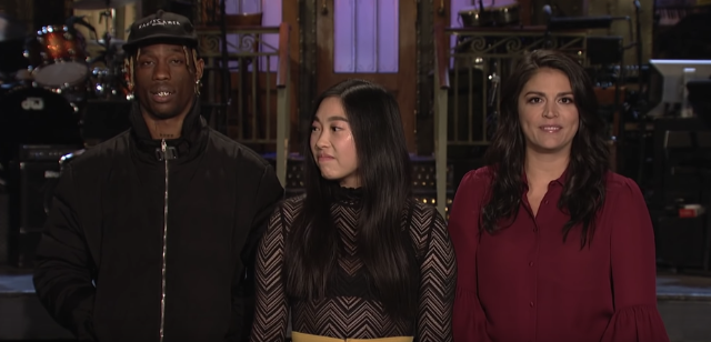 52ef4da1fbd2 Travis Scott's Hosts 'SNL' With Awkwafina: Watch The Promos - Stereogum