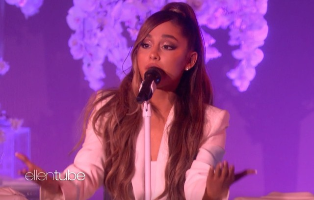 Ariana Grande Slips During 'thank u, next' Performance On Ellen