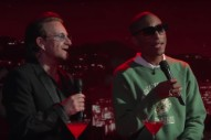 Watch Bono &#038; Pharrell Sing &#8220;Stayin' Alive&#8221; On <em>Jimmy Kimmel</em>&#8217;s (RED) Show