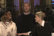 Watch Lil Wayne Joke About <em>Mamma Mia!</em> And Impersonate Liev Schreiber In Their <em>SNL</em> Promos