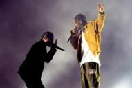 "Watch Travis Scott & Kendrick Lamar Perform ""Goosebumps"" In New York"