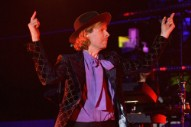 """Watch Beck Play """"Where It's At"""" With Father John Misty & Este Haim In Surprise Wildfires Benefit Appearance"""