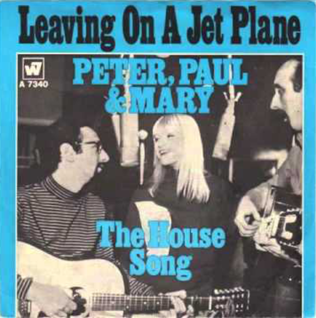 Image result for leaving on a jet plane peter paul and mary single images