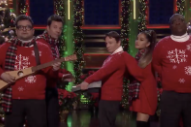 Watch Ariana Grande Join <em>SNL</em>&#8217;s &#8220;I Wish It Was Christmas Today&#8221; Band On <em>Fallon</em>