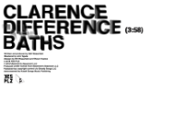 "Baths – ""Clarence Difference"""