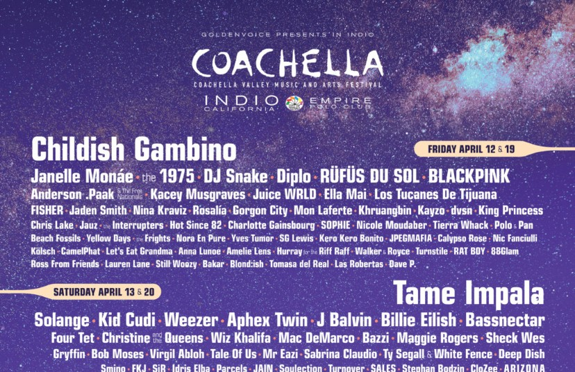 Coachella 2019 Lineup Features Headliners Ariana Grande, Childish